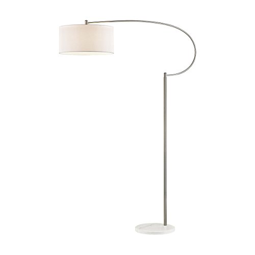 - Dimond D3025 Whitecrane Floor Lamp, 1-Light 100 Watts, Satin Nickel