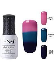 HNM Thermal Temperature Color Changing Gel Nail Polish Soak Off UV LED Nail Lacquer 4207 8ml