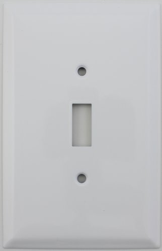 Over Sized Jumbo Smooth White One Gang Toggle Switch Wall (Large Switch)