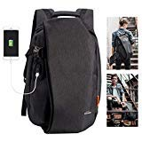 Overmont Laptop Backpack for School Travel Computer Bag Anti-Theft Leisure Daypack Bussiness Backpack with USB Charging Port Waterproof Bookbag for College Students Fits Under 17.3 inch Laptop ()