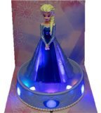 Disney Frozen Disney Ana and piggy bank parallel imports of snow queen light and song of