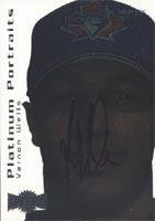 Vernon Wells Toronto Blue Jays 2000 Skybox Platinum Prospects Metal Autographed Card - Nice Card - Rookie Card. This item comes with a certificate of authenticity from Autograph-Sports. Autographed ()