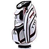 TTD TIANTIANDA Golf Cart Bag,7lb, EGHandy-9, 14 Way Full Length Divider, 10 Pockets (White)