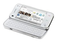 NOKIA N97 MINI WHITE 8GB MEMORY (VODAFONE UNLCOKED QUADBAND)FREE LIFETIME FULLY ACTIVATED GPS WITH REAL TIME MAPS+CAR HOLDER+CAR CHARGER,5MP CAMERA,WIFI+WIFI CALLING,MEMORY CARD SLOT,3.5 MM HEADPHONE JACK,MP3,MP4,VGA 30F/SEC VIDEO RECORDING,FM RADIO WITH RDS,QWERTY KEYBOARD + FULL TOUCH SCREEN GSM CELL PHONE