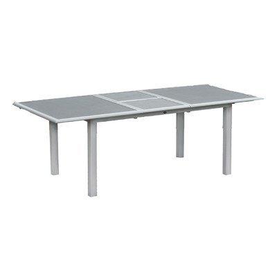 Esstisch Lazio Farbe: Silber / Grau-Spraystone