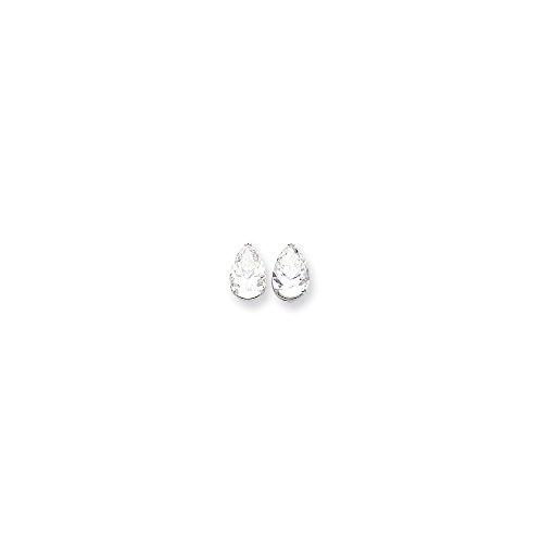 14k White Gold 12x8 Pear Earring Mountings
