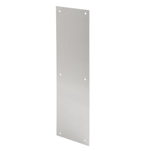 Prime-Line J 4581 Door Push Plate, 4-Inch X 16-Inch, Satin Aluminum