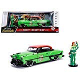 New DIECAST Toys CAR JADA 1:24 W/B - DC Comics Bombshells - Poison Ivy & 1953 Chevrolet BEL AIR Green with RED TOP 30455 ()