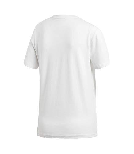 T donna shirt bianca Trefoil nera Adidas Uw1SUTq7x