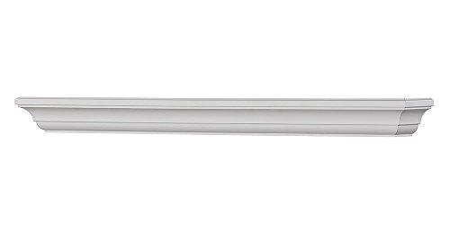 Colton 60-Inch Fireplace Mantel Shelf, White