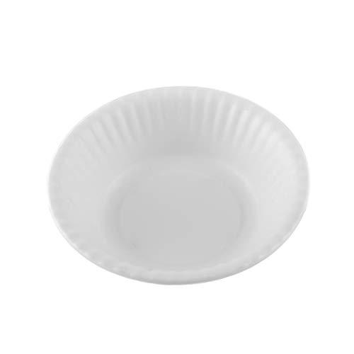 Melange 6-Piece 100% Melamine Bowl Set (Paper Plate Collection) | Shatter-Proof and Chip-Resistant Melamine Bowls | Color: White ()