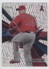 Gr Confetti (Garrett Richards #81/99 (Baseball Card) 2015 Topps High Tek - [Base] - Pattern 1 Waves Confetti Diffractor #HT-GR)
