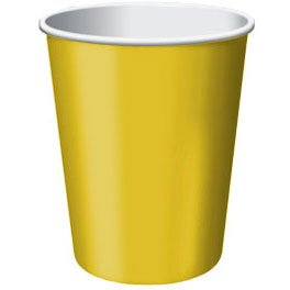 Disposable Party Cups Tableware, 20 Pieces, Made from Paper, Yellow Sunshine, 9 oz by Amscan