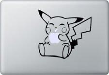 MacDecalDE Pikachu kompatibel mit//Ersatz f/ür MacBook Air Pro Auto usw Aufkleber Sticker Skin Decal