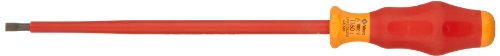 Wera 05031585001 Kraftform Comfort VDE 1160i Slotted Insulated Screwdriver, 5.5mm Head, 200mm Blade Length