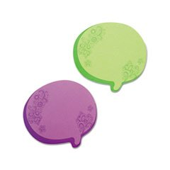 Thought Bubble Notes, 2 3/4 X 3, Neon Green, 75-Sheet Pads, 2/set By: Redi-Tag