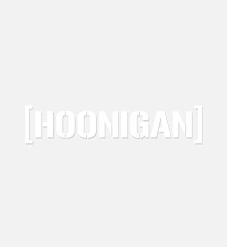 "Hoonigan Small Die Cut CBar Premium Vinyl Sticker   10"" Die Cut Vinyl Decal   This is it, Our Iconic Slap. Show Some Love to Your Bumper, Laptop, Skate Deck, Bike, Helmet, and More."
