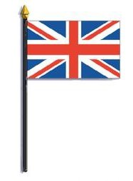 4x6 Inch Mini Stick Hand Held UK Great Britain Flag US Made Highest Quality Fast -