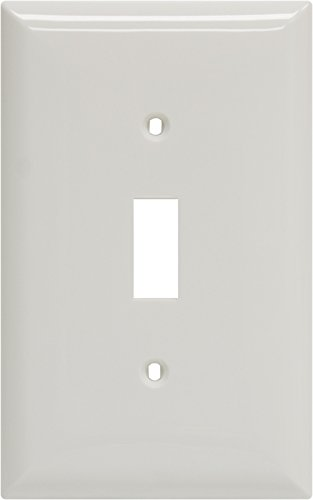 Power Gear OversizedSingle Switch Wallplate, White, Unbreakable Nylon, Screws Included, 40020 (Oversized Light Switch Covers)