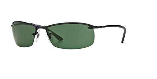 Ray-Ban RB3183 006/71 63M Matte Black/Green Sunglasses For ()