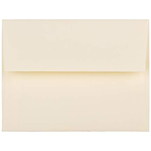 JAM PAPER A2 Strathmore Invitation Envelopes - 4 3/8 x 5 3/4 - Ivory Laid - 25/Pack