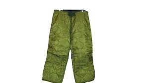 Trouser Liner - Military Field Pant Liner for Cold Weather Trousers - Quilted - Olive Drab Green - Genuine Army Issue (Small Short/Regular)