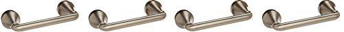 Moen MY6208BN Hamden Pivoting Toilet Paper Holder Spot Resist Brushed Nickel (4-(Pack))