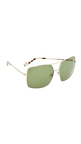 KENDALL + KYLIE Women's Sophie Aviator Sunglasses, Shiny Gold/Bottle Green, One - Sunglasses Kendall Kylie