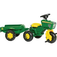 Rolly John Deere 3 Wheel Trac with Trailer Ride On by Rolly