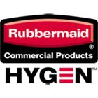 RCP1805730 - Rubbermaid Commercial Hygen Hygen Sanitizer Safe Foodservice Microfiber Cloth, 16 X 19, White/green