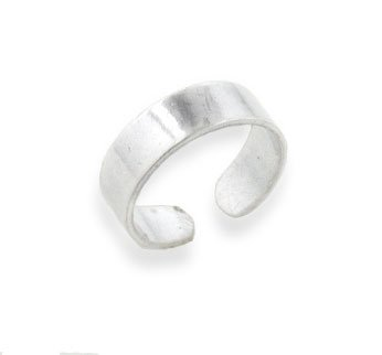 Sterling Silver Plain Band Toe Ring pEvkjdIA43