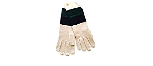 Kate Spade Color Block Stripe Glove, Pumice/Black/Lily/Cream