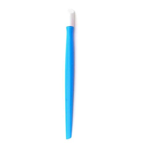 Wffo 1 Pc Nail Art Orange Plastic Stick Cuticle Pusher Remover, Pedicure Manicure Tool (Bule) -