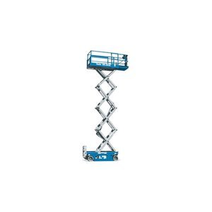 Genie-Self-Propelled-Scissor-Lift-Aerial-Work-Platform-26Ft-Lift-500-Lb-Capacity-Model-GS-2632