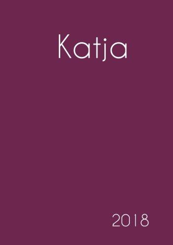 2018: Namenskalender 2018 - Katja - DIN A5 - eine Woche pro Doppelseite