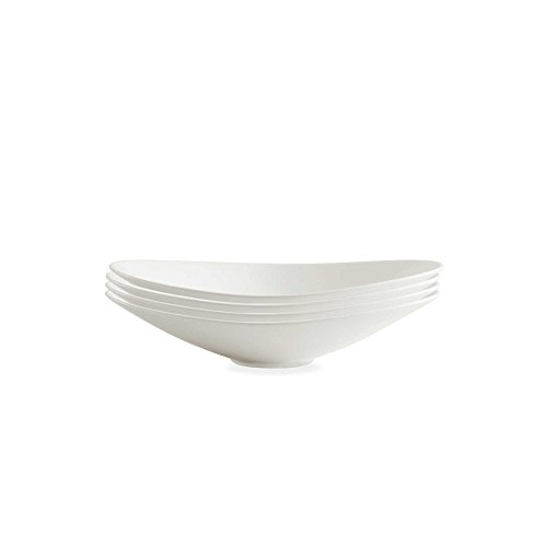 Fortessa Accentz 9.5-Inch Oval Coupe Bowls in White (Set of 4) | Measures 9.5'' L by Fortessa Accentz
