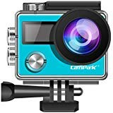 Campark Action Camera X20 4K 20MP Touch Screen Waterproof Video Cam Underwater Camcorder EIS, Dual Screen, Remote Control Compatible gopro Camera- Blue