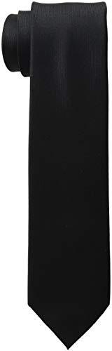 Kenneth Cole REACTION Men's Darien Solid Tie, black, Slim