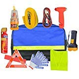 COREYCHEN Car Emergency Kit Roadside Assistance Auto Road Travel First Aid Kit