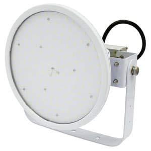 日動工業 LED投光器 ハイディスク100W 高効率タイプ 水銀灯400W相当 昼白色 電源装置一体型 ワイドタイプ 電線ポッキンプラグ5m付 クリア L100V2-D-HW-50K