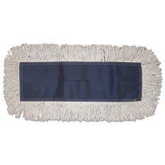 Boardwalk Disposable Dust Mop Head, Cotton, Cut-End, 60W X 5D