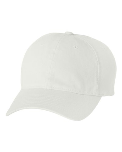 Flexfit/Yupoong Men's Low-Profile Unstructured Fitted Dad Cap, White Large/X-Large