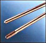 Erico 633400 Electrolytic Copper Coating Copper Bonded Steel Sectional Ground Rod 3/4 Inch x 10 ft