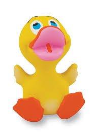 Rich Frog Baby Rubber Duck Children's Bath Toy, Yellow - 3