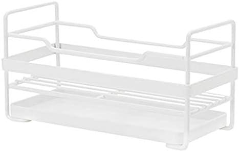 Yadianna Towel Sponge Storage Rack for Kitchen Rag Storage Rack Hanger Rack Kitchen Hooks with Tray Shelf Drainage Shelf