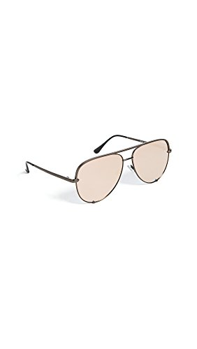 Quay Women's x Desi Perkins High Key Sunglasses, Gunmetal/Rose Gold, One - Key Gold High Quay Rose