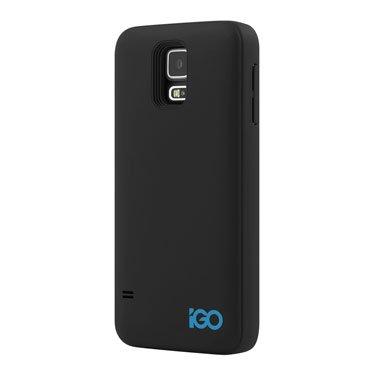 iGO Samsung Galaxy S5 Charger Case 2400mAh Black, (Igo Battery Charger)