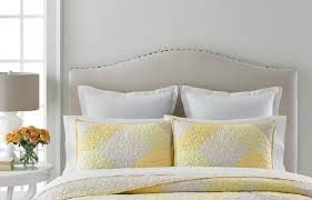 Martha Stewart Collection Patchwork Eyelet Standard Pillow Sham Yellow