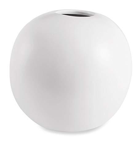 Vaso Branco Em Cerâmica Mart Branco