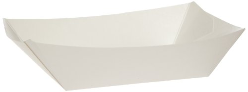 Dixie KL300W8 Kant Leek Polycoated Paper Food Tray, 3 Pound, White (Case of ()